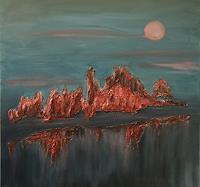 Amigold-Landschaft-Landschaft-Berge