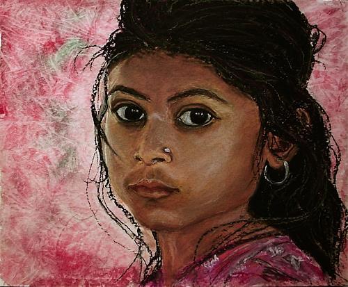 Amigold, Indian-girl, Menschen: Porträt, Expressionismus