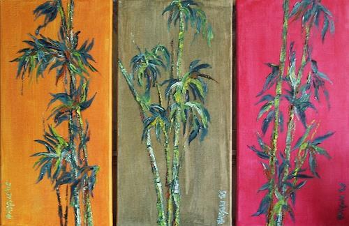 Amigold, Bambustriptychon, Pflanzen: Bäume