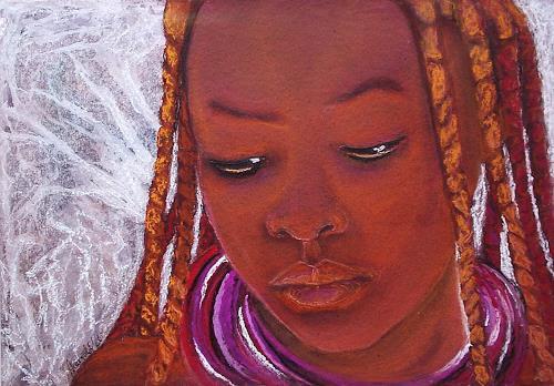 Amigold, Himbamädchen I /Namibia, Menschen: Porträt, Expressionismus