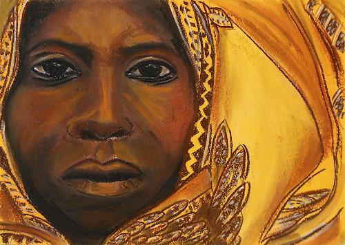Amigold, Yellow, Menschen: Porträt, Gegenwartskunst