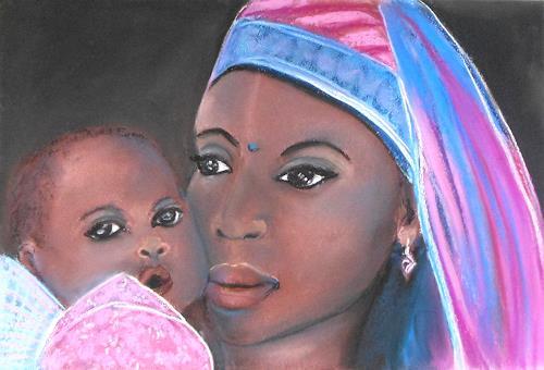 Amigold, Mutter und Kind, Menschen: Porträt, Gegenwartskunst