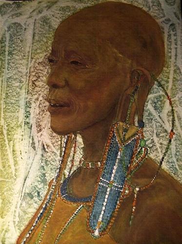 Amigold, alte Masai-Frau, Menschen: Porträt