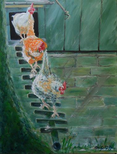Amigold, Hühnerleiter, Tiere: Land, Gegenwartskunst