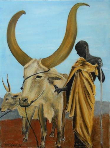 Amigold, Afrika, Tiere: Land, Menschen: Mann, Gegenwartskunst