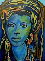 Amigold-Menschen-Portraet-Menschen-Frau-Gegenwartskunst-Gegenwartskunst