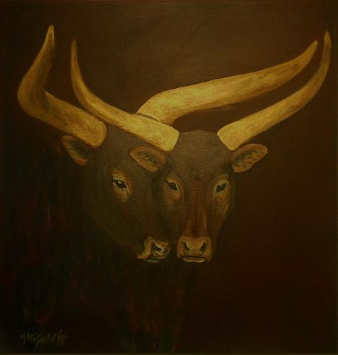 Amigold, Afrika Cows, Tiere: Land, Gegenwartskunst