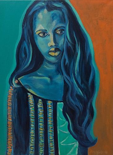 Amigold, Ragazza, Menschen: Frau, Gegenwartskunst