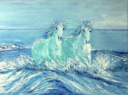 Amigold, Libertà in due, Landschaft: See/Meer, Tiere: Land, Gegenwartskunst
