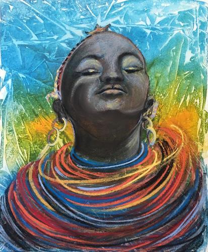 Amigold, Tanzende Massai, Menschen: Frau, Gegenwartskunst