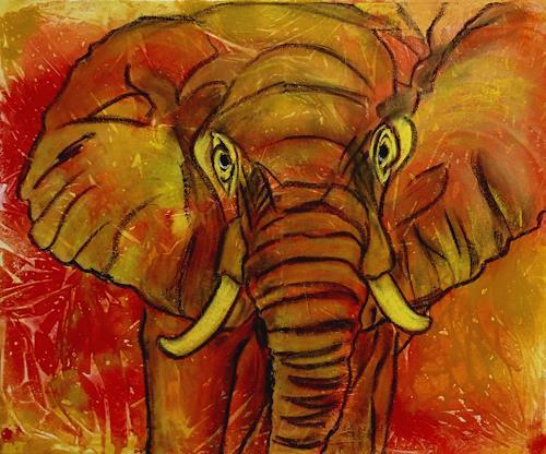 Amigold, Krafttier Elephant, Tiere: Land, Gegenwartskunst
