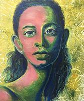 Amigold-Menschen-Frau-Menschen-Portraet-Gegenwartskunst-Gegenwartskunst