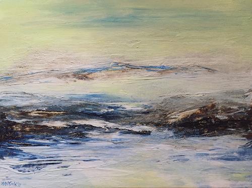 Amigold, Spiegelung, Landschaft: See/Meer, Gegenwartskunst