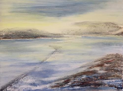 Amigold, Winter im Nirgendwo, Landschaft: See/Meer, Gegenwartskunst