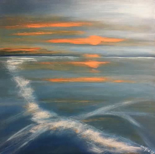 Amigold, Ghiaccio, Landschaft: See/Meer, Gegenwartskunst, Expressionismus