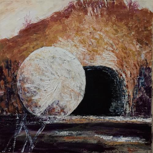 Amigold, Risurrezione - Auferstehung, Landschaft: Hügel, Gegenwartskunst, Expressionismus