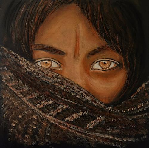 Amigold, Honigaugen, Menschen: Porträt, Gegenwartskunst