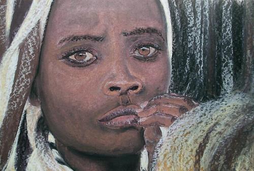 Amigold, Stumme Bitte, Menschen: Porträt, Expressionismus