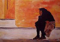 Amigold-Menschen-Frau-Moderne-Abstrakte-Kunst