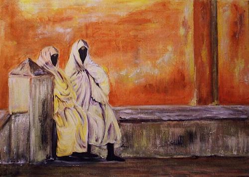 Amigold, Frauen in Essaouira Marocco, Menschen: Gruppe, Abstrakte Kunst