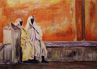 Amigold-Menschen-Gruppe-Moderne-Abstrakte-Kunst