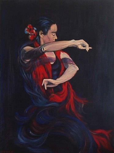 Amigold, Flamenco II, Bewegung, Abstrakte Kunst