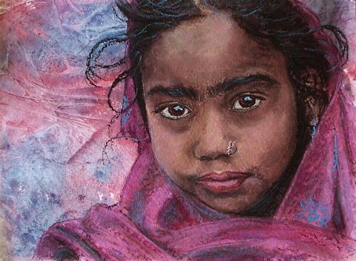 Amigold, Indian girl II, Menschen: Porträt, Expressionismus