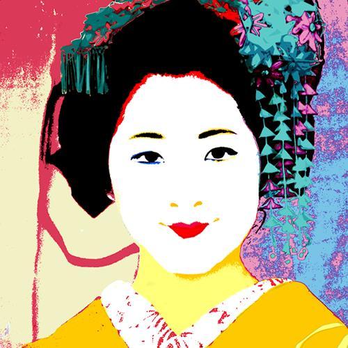 Miriam Stone, geisha, Gesellschaft, Menschen: Gesichter, Pop-Art, Expressionismus