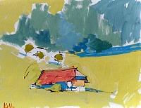 Max-Koehler-Landschaft-Berge-Natur-Wald-Moderne-Impressionismus-Neo-Impressionismus
