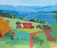 Max-Koehler-Landschaft-Berge-Landschaft-Huegel-Moderne-Impressionismus-Postimpressionismus