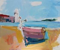 Max-Koehler-Landschaft-See-Meer-Gefuehle-Moderne-expressiver-Realismus