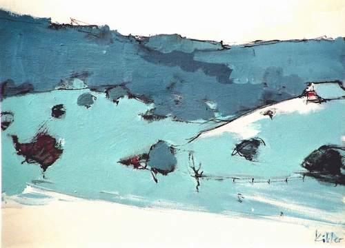 Max Köhler, Winter, Landschaft: Berge, Landschaft: Winter, Impressionismus, Expressionismus