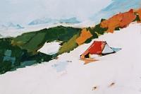 Max-Koehler-Landschaft-Winter-Landschaft-Berge-Moderne-Impressionismus