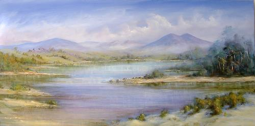 rita palm, Quiet Waters, Landschaft: Hügel, Natur: Wasser, Realismus, Expressionismus