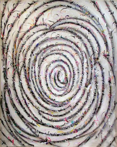 Richard Lazzara, Mondrian Spiral, Abstraktes, Bauhaus, Abstrakter Expressionismus