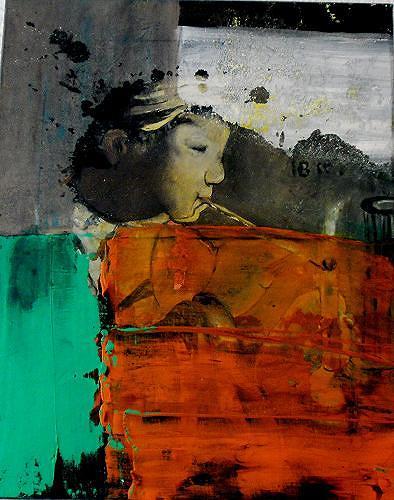 Ursula Guttropf, Zeitfenster 3, Menschen, Menschen, Abstrakter Expressionismus