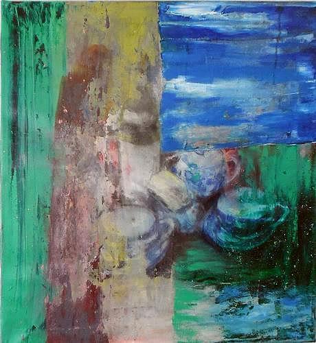 Ursula Guttropf, Zeitfenster 2, Stilleben, Stilleben, Abstrakter Expressionismus