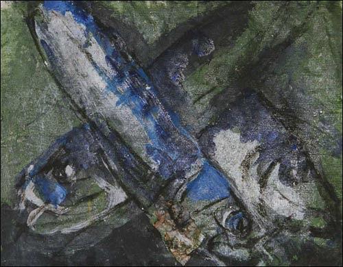 Ursula Guttropf, Fische, Tiere: Wasser, expressiver Realismus