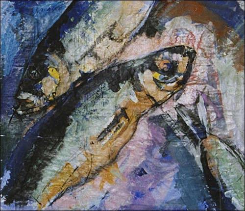 Ursula Guttropf, Fische, Diverse Tiere, expressiver Realismus, Expressionismus