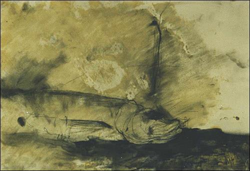 Ursula Guttropf, Fisch, Tiere: Wasser, expressiver Realismus