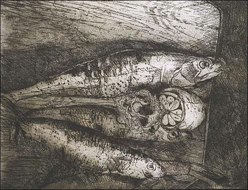 Ursula Guttropf, Fische, Diverse Tiere, expressiver Realismus