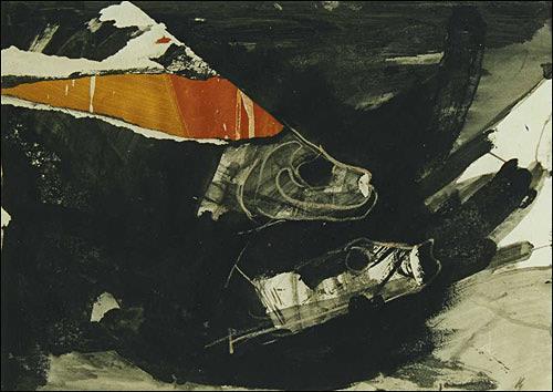 Ursula Guttropf, Der Lachs, Tiere: Wasser, expressiver Realismus