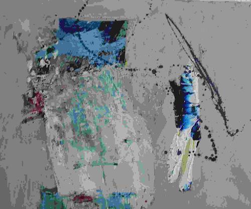 Ursula Guttropf, Schleier, Abstraktes, Abstrakter Expressionismus