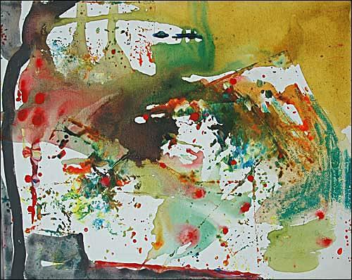 Ursula Guttropf, Aufgebrochen, Abstraktes, Abstraktes, Abstrakter Expressionismus