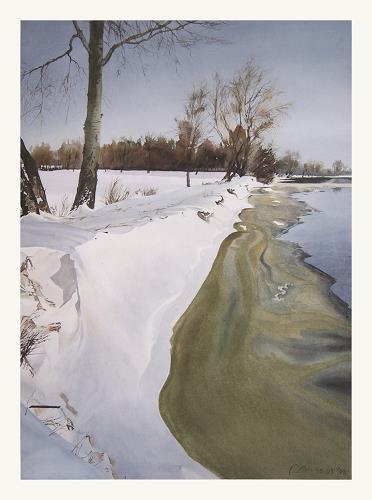 Valeriy Grachov, Geschmolzenem Eis (Melting ice), Diverse Landschaften, Natur: Wasser, Realismus, Expressionismus
