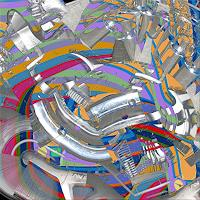V. Grachov, 3D abstract worms 01