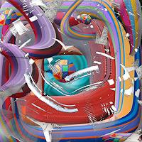 V. Grachov, 3D abstract worms 02