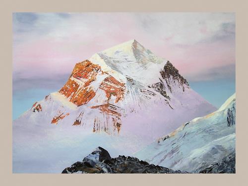 Valeriy Grachov, Himalayas 1011, Landschaft: Berge, Natur: Gestein, Gegenwartskunst, Expressionismus