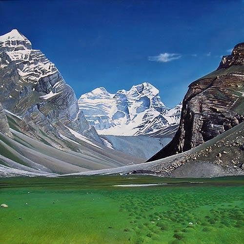 Valeriy Grachov, Pamirs 101, Landschaft: Berge, Natur: Gestein, Realismus, Expressionismus