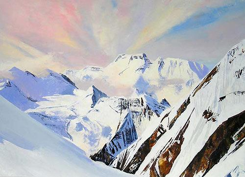 Valeriy Grachov, Himalayas 1012, Landschaft: Berge, Natur: Gestein, Realismus